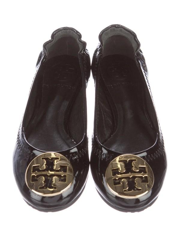Tory Burch Girls' Reva Patent Leather Flats - Girls