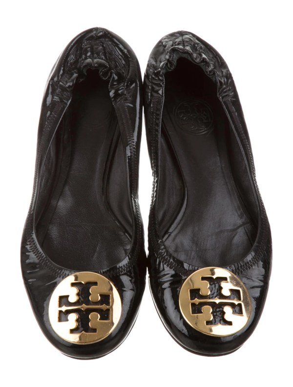 Tory Burch Patent Leather Reva Flats - Shoes Wto99708