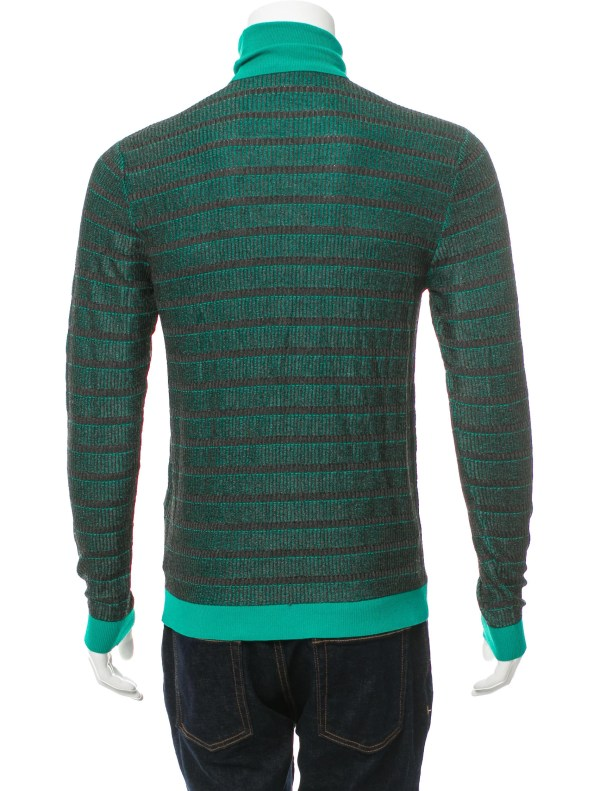 Versace Collection Striped Turtleneck Sweater - Clothing