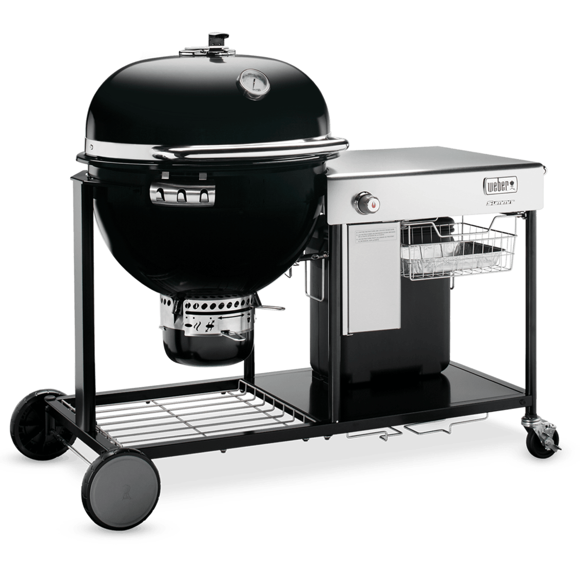 """Summit® Charcoal Grilling Center 24"""" View"""