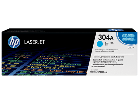Hp 304a Cyan Original Laserjet Toner Cartridge Cc531a