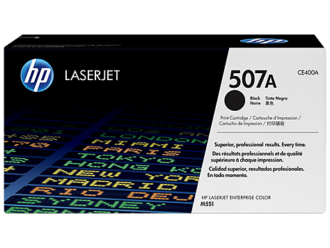 Hp 507a Black Original Laserjet Toner Cartridge Ce400a