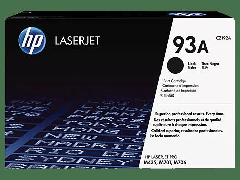 Hp 93a Black Original Laserjet Toner Cartridge Cz192a Hp