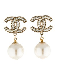 Chanel CC Pearl Drop Earrings - Earrings - CHA49015 | The ...