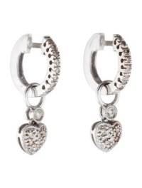 Diamond Heart Drop Earrings - Earrings - FJE27286 | The ...