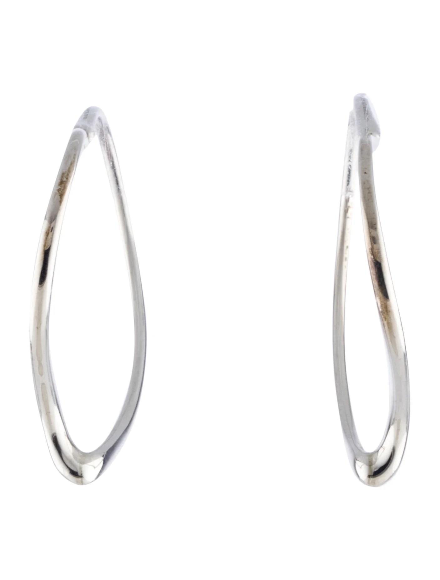 Tiffany Amp Co Open Heart Hoop Earrings
