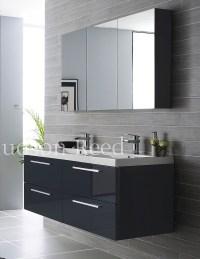 Hudson Reed Quartet High Gloss Grey Bathroom Furniture Pack