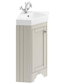 corner vanity units for compact