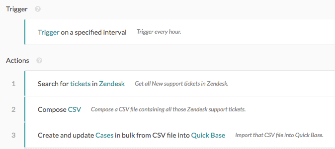 Bulk import records from Zendesk to Quick Base