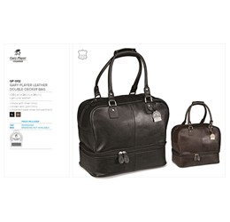 Gary Player Leather Double Decker Bag