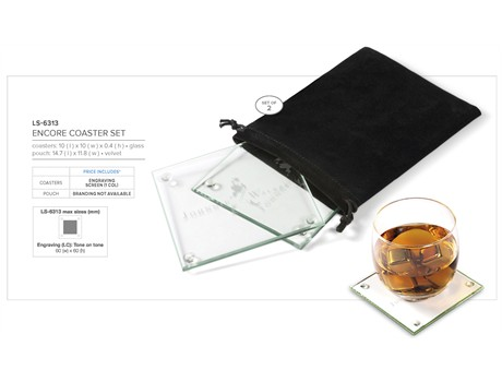 glass coaster set LS-6313