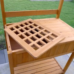 Merry Garden Adirondack Chair How To Lift A Trick Products Wood Potting Bench With Recessed Storage