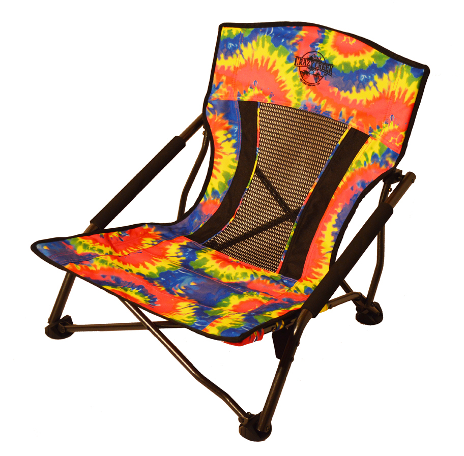 Most Comfortable Camping Chair Crazy Creek Crazy Legs Quad Beach Festival Chair Tie Dye