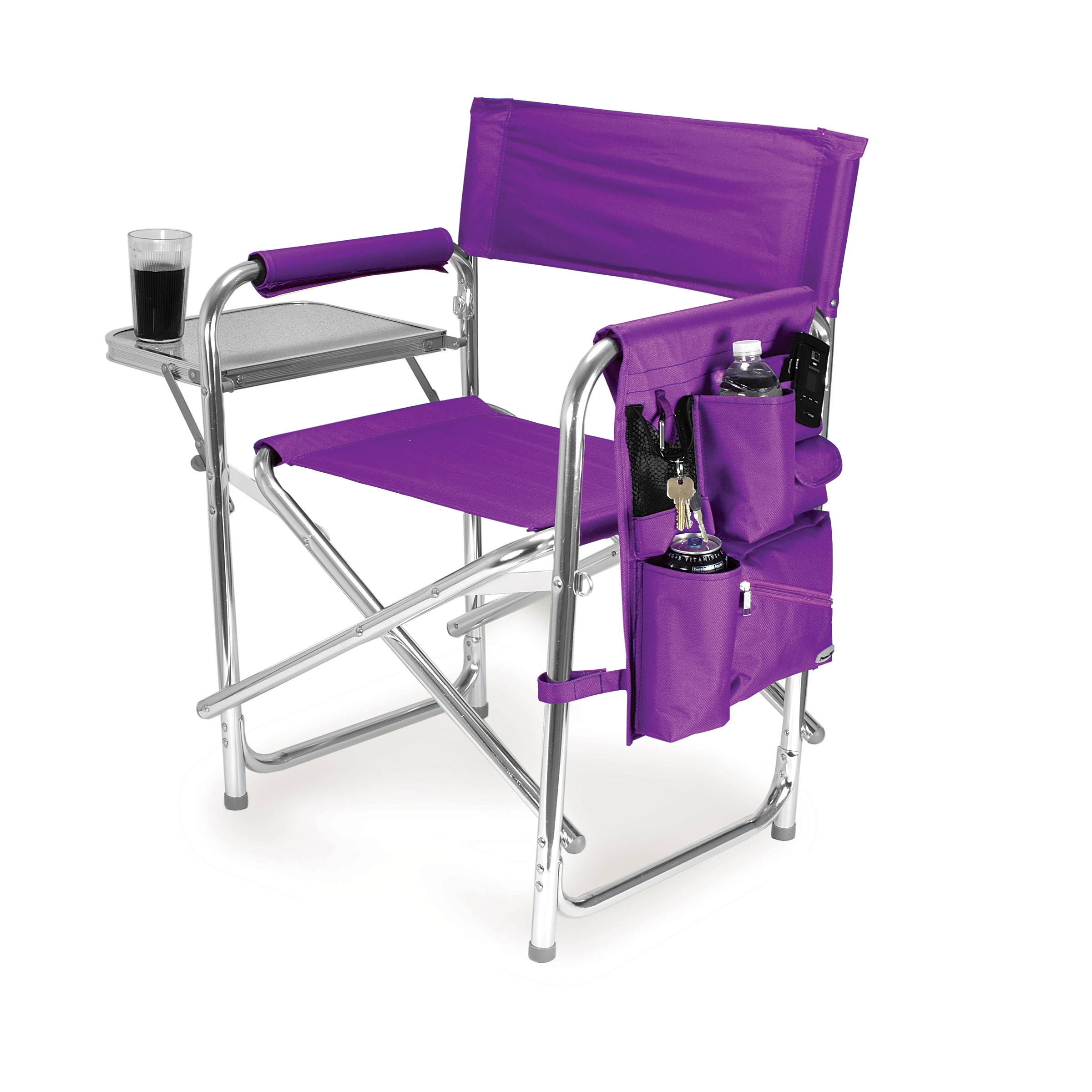 Camper Chairs Picnic Time Purple Portable Folding Sports Camping Chair