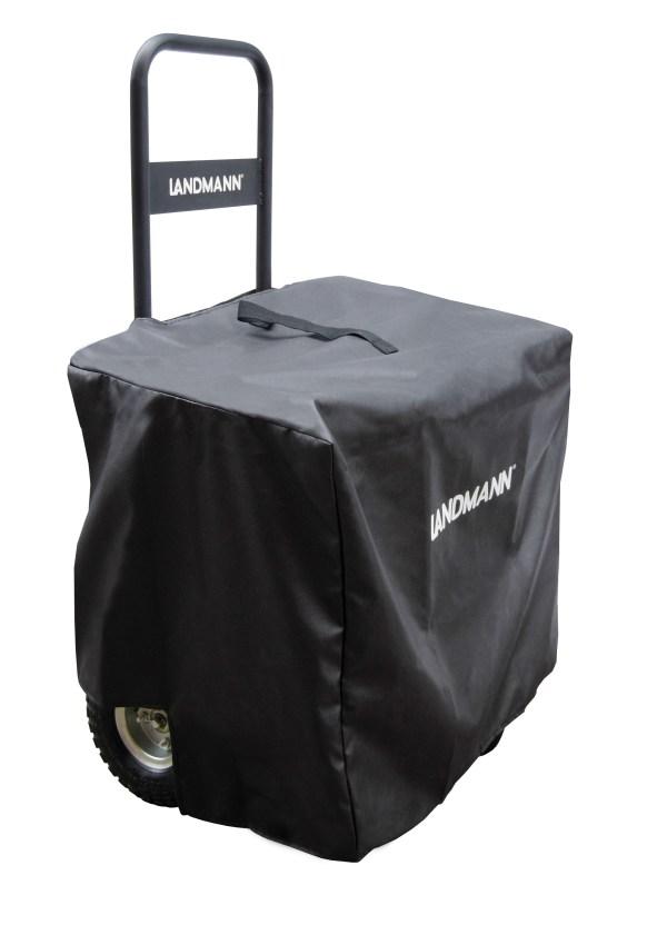 Landmann Black Firewood Caddy With Cover