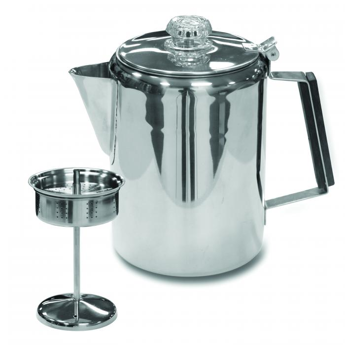 Stansport Stainless Steel Percolator Coffee Pot  9 Cup