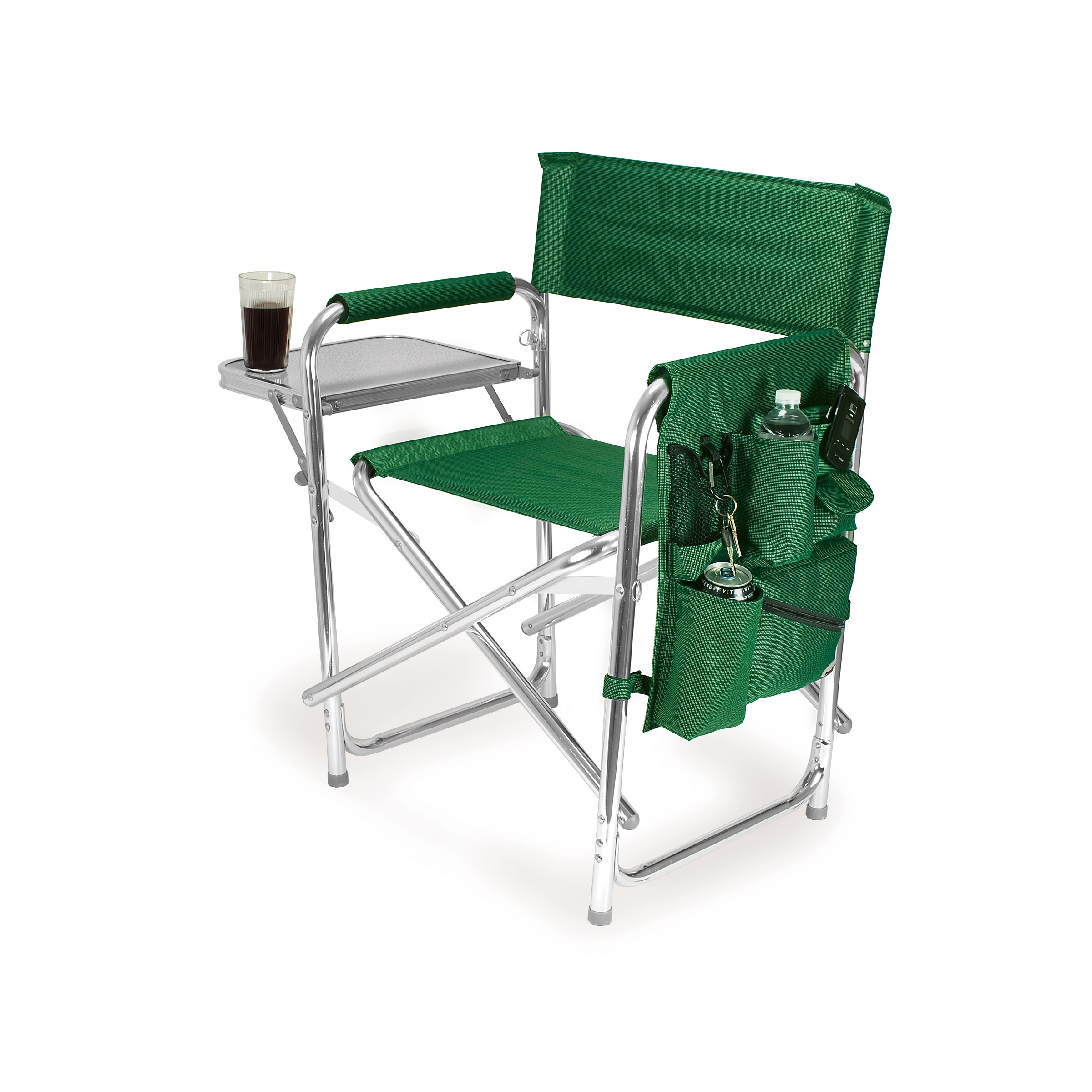 compact camping chair sit down picnic time green portable folding sports