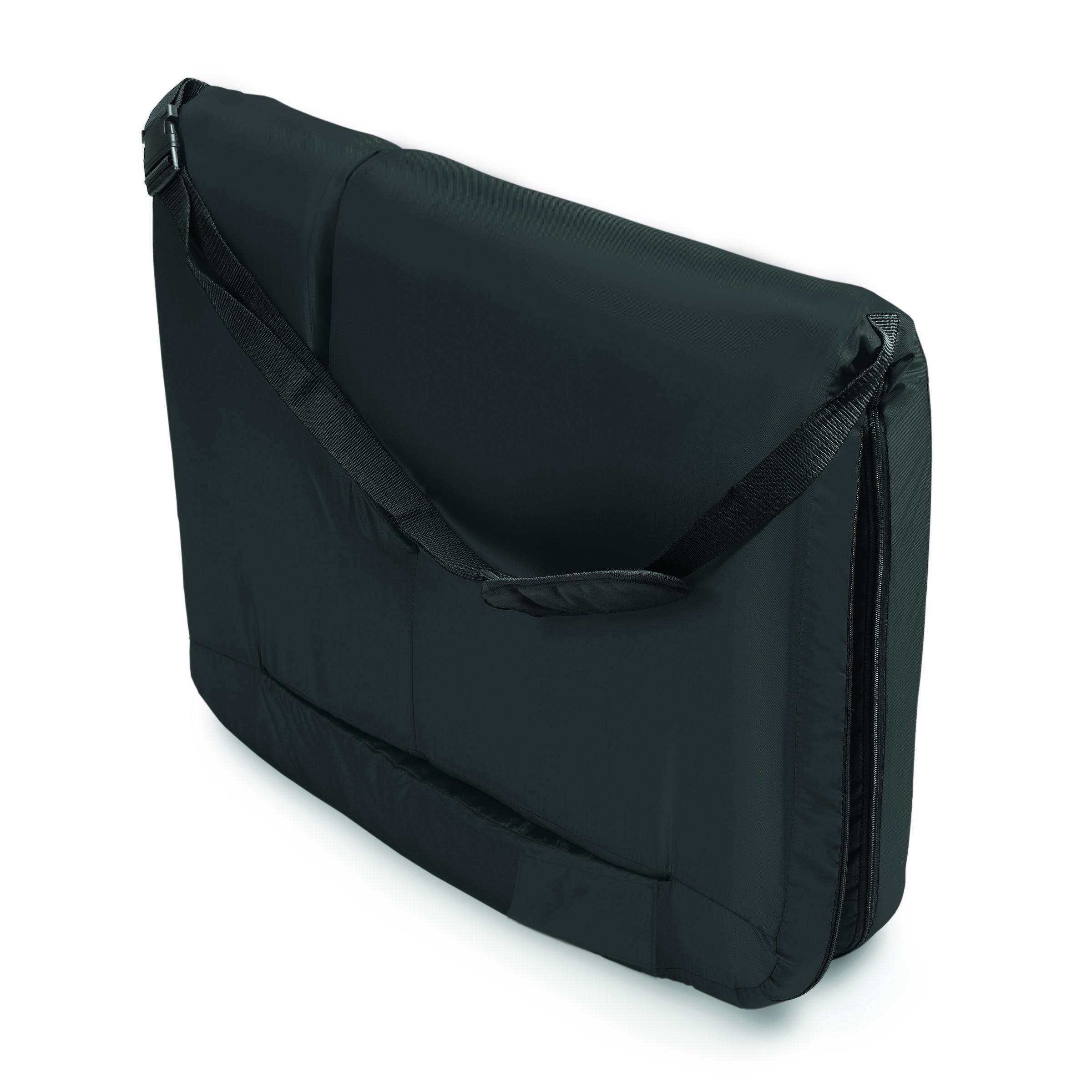 travel chair big bubba modern tan leather dining picnic time reflex portable reclining coach, black