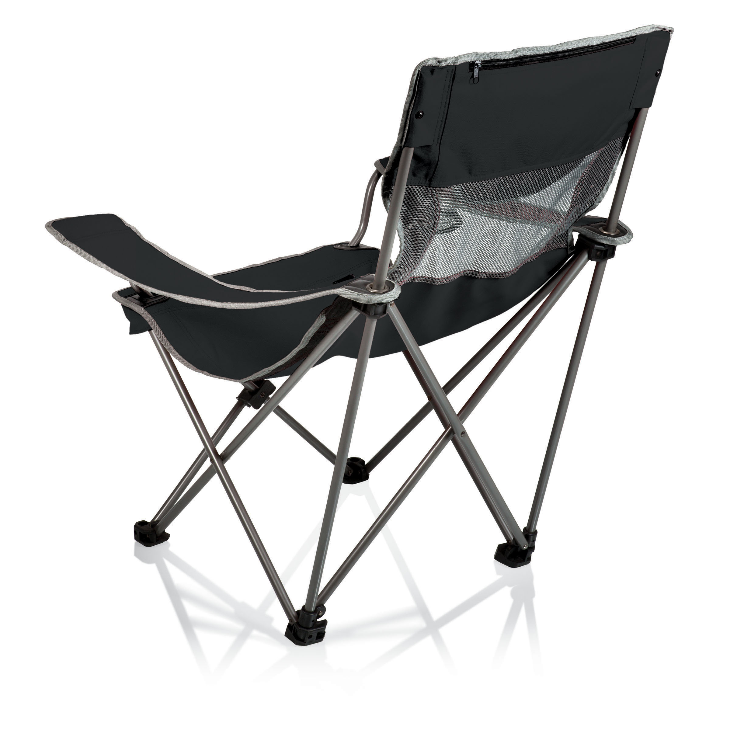 picnic time folding chair specialty office chairs campsite camp black grey