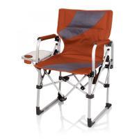 Picnic Time Meta Chair, Burnt Orange/Grey