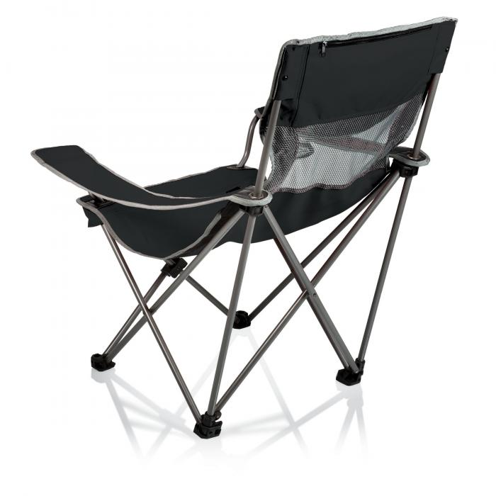 Picnic Time Campsite Folding Camp Chair  BlackGrey