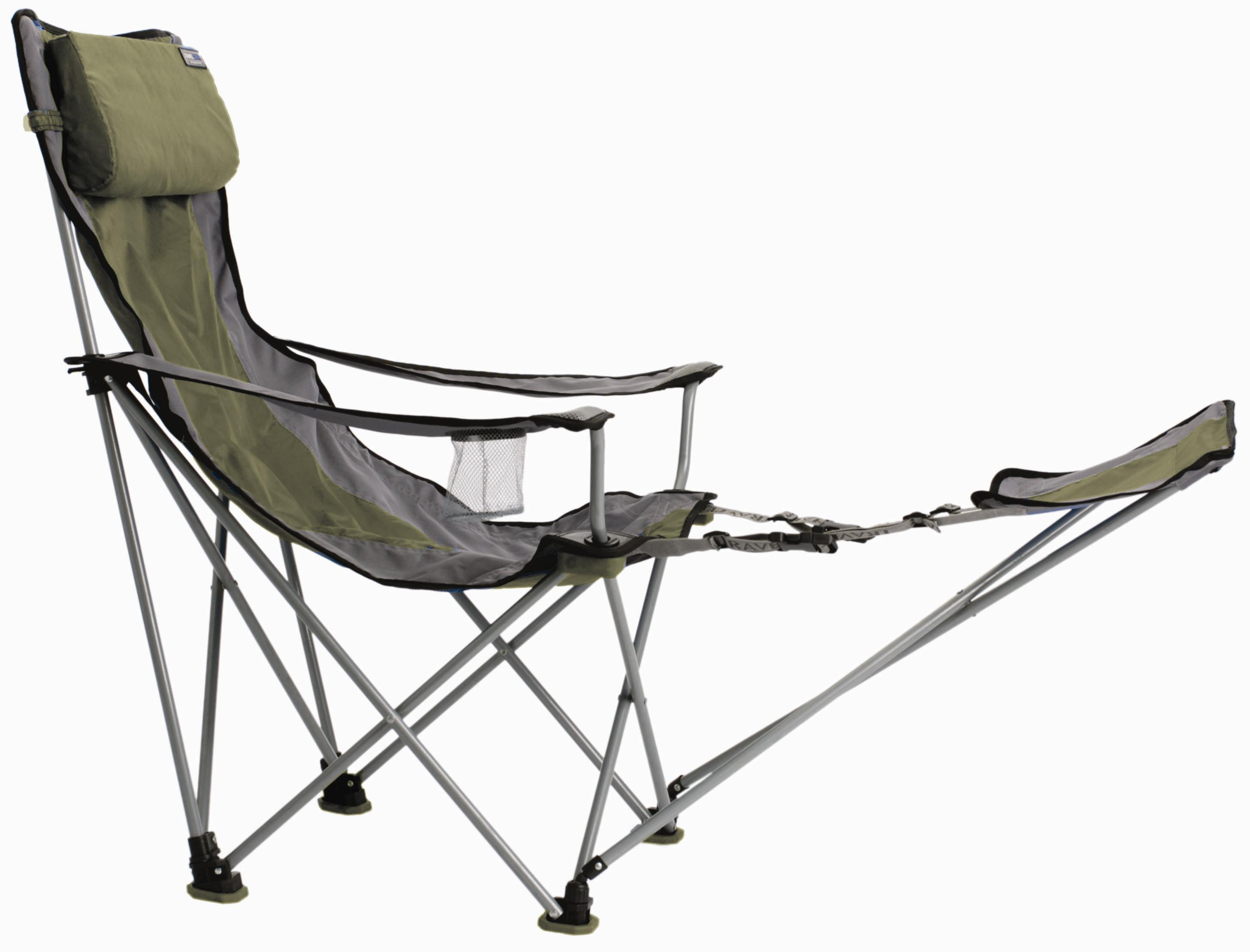 Camping Chair With Footrest Travel Chair Big Bubba Folding Outdoor Chair Green