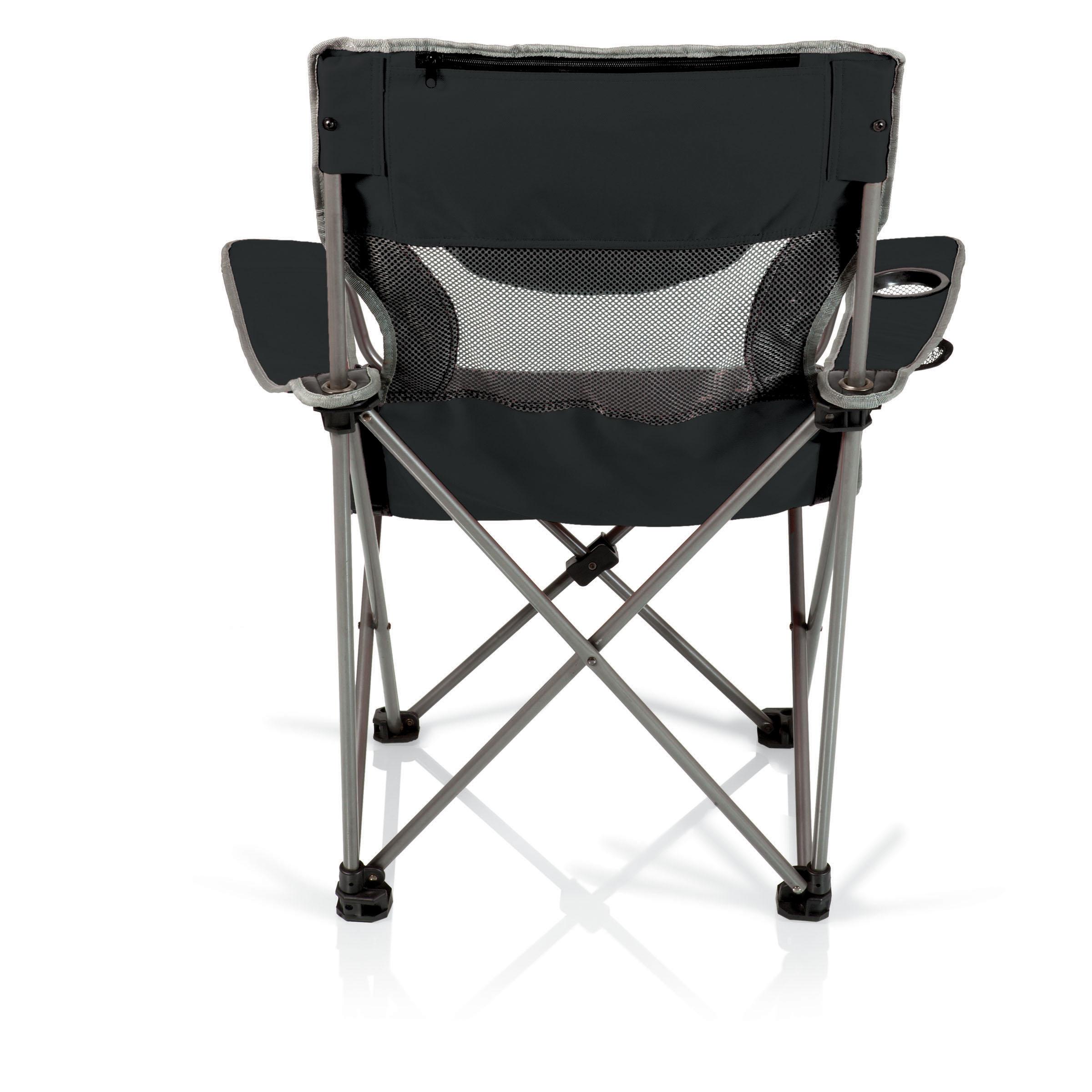 Picnic Time Campsite Folding Camp Chair  BlackGrey