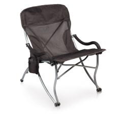 Picnic Time Folding Chair Office Lobby Chairs Extra Wide Camp Black