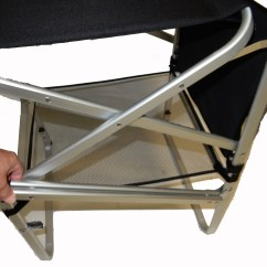 Tall Fishing Chair Stair Lift Installation Cost Deluxe Director W Side Table And Cup Holder