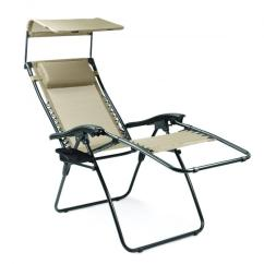 Coleman Max Camping Chair Small Lift Chairs Picnic Time Serenity Reclining Lounge With Sunshade, Two-toned Taupe