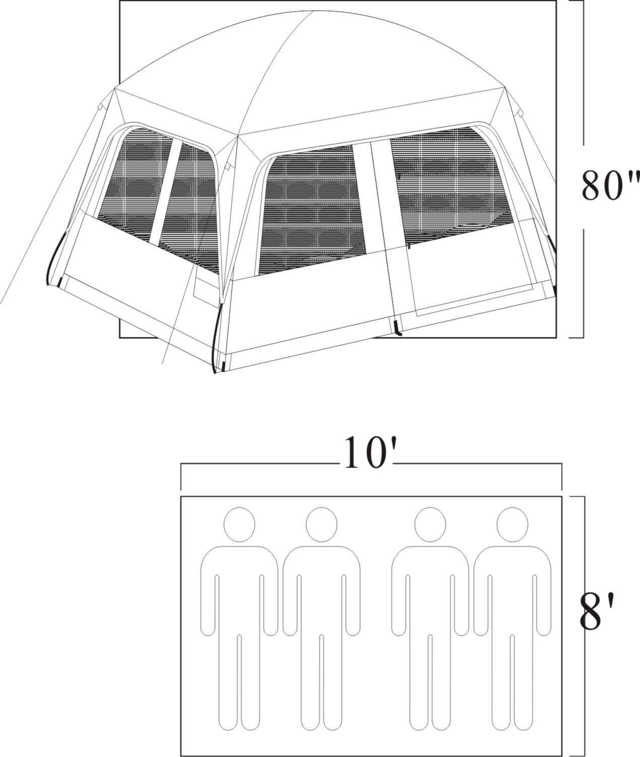 Gigatent Prospect Rock 4 5 Person Family Dome Tent