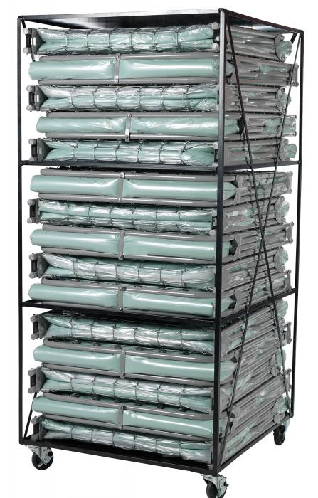 Blantex XM6 3 Level Bed Cart with 15 Extra Wide Folding Cots
