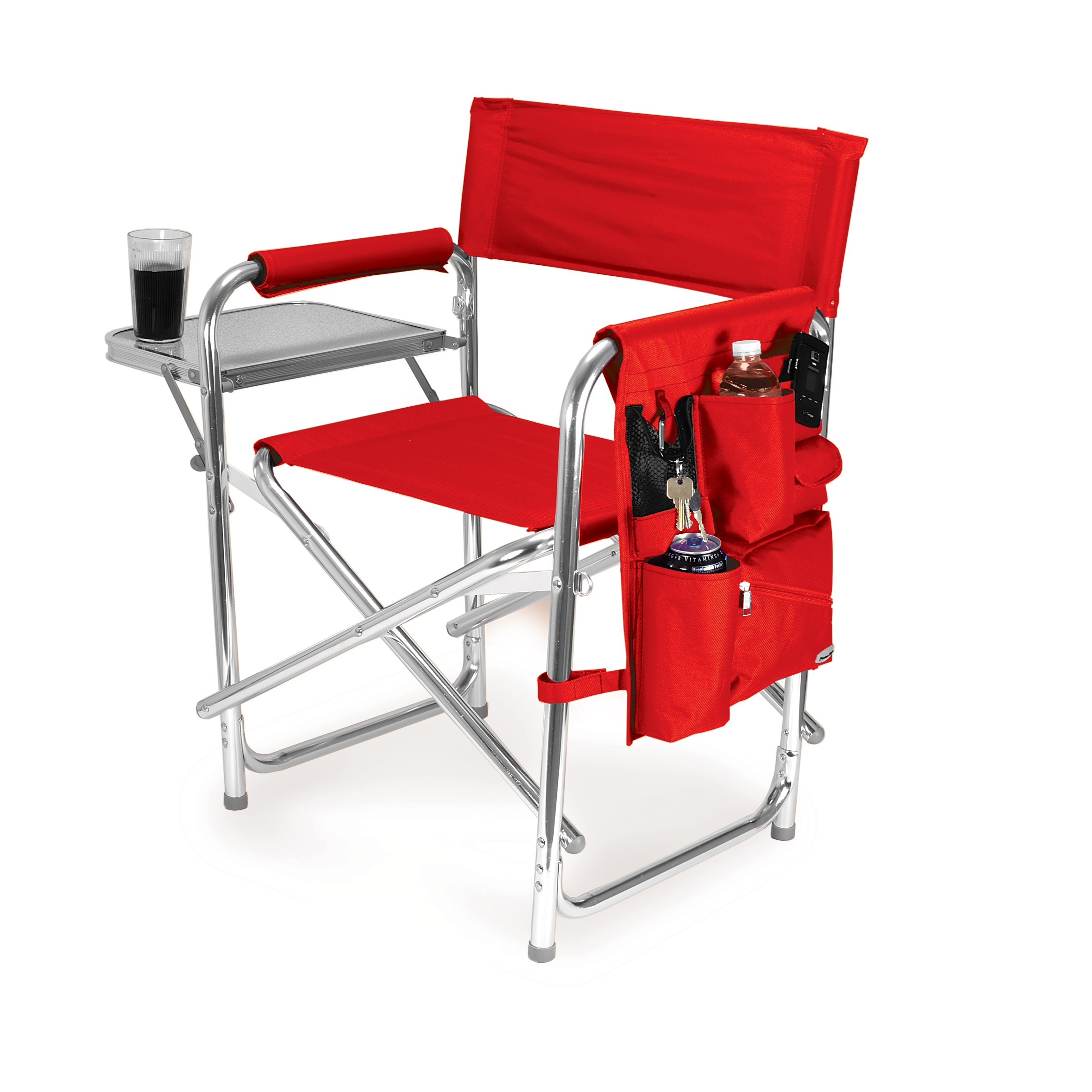 compact camp chair cool modern office chairs picnic time red portable folding sports camping