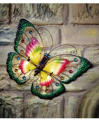 Solar Butterfly Wall Art | Oxendales