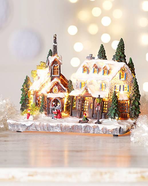 christmas light up village scenes uk newchristmas co