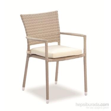 Sette Em020 B Sentetik Rattan Sandalye Beyaz Fiyati