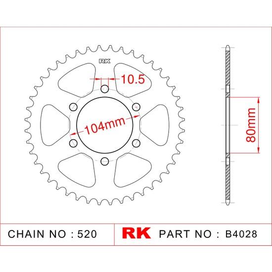 Kawasaki ER-6F 650 ABS RK Çelik Arka Dişli B4028-46 Fiyatı