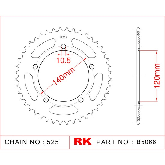 Suzuki DL 1000 V-STROM RK Çelik Arka Dişli B5066-41 Fiyatı
