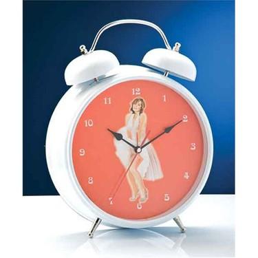 Nostaljik Zilli Alarm Sari Kalp Calar Saat Masa Saati 12x8 5cm Ev Urunleri