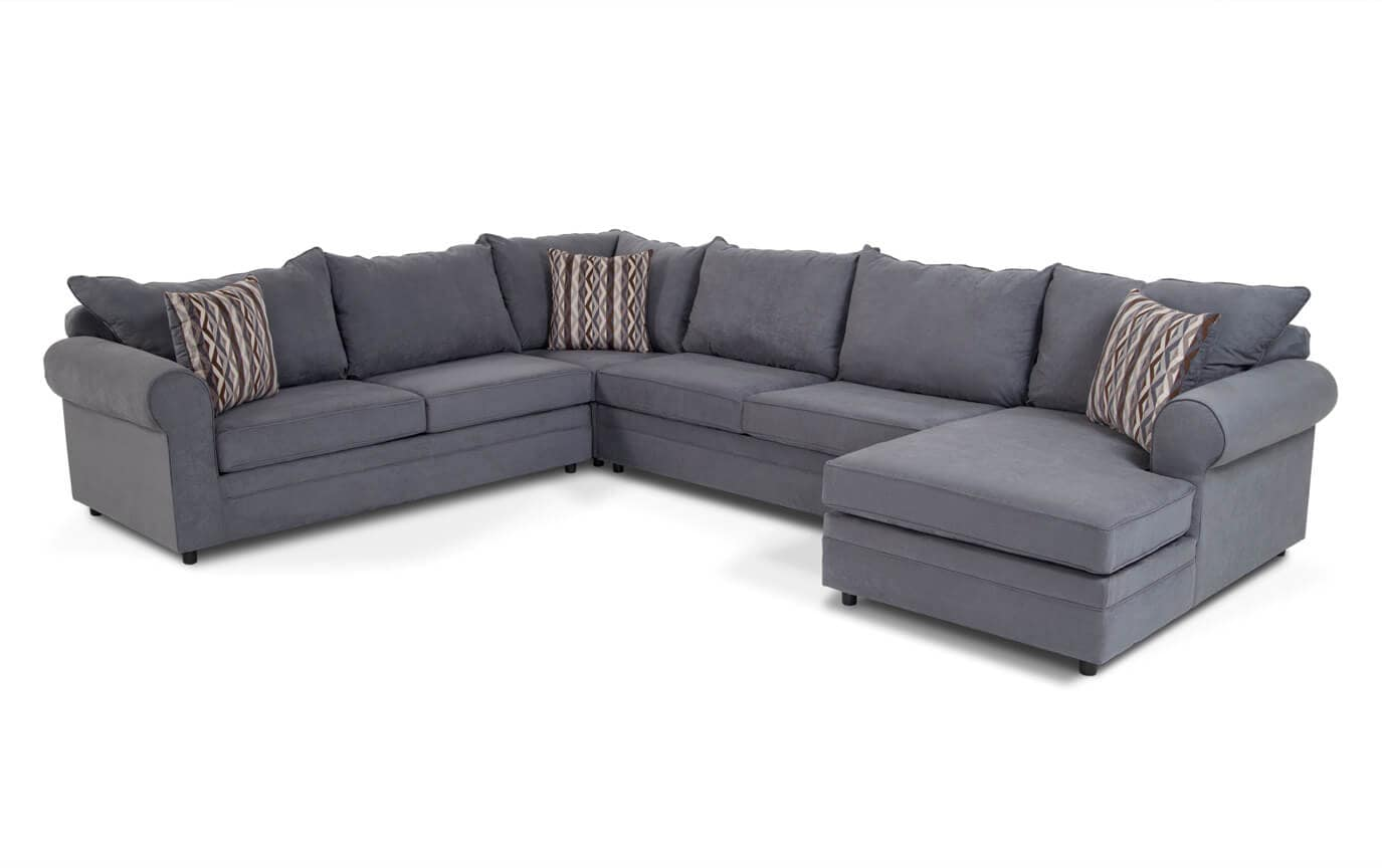 right arm facing sofa left chaise minnie mouse flip open venus 4 piece sectional bob 39s discount