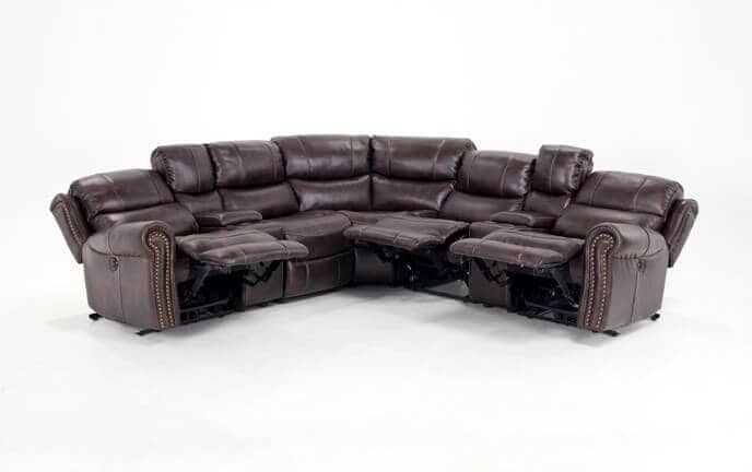 recliner sectional sleeper sofa rowe sectionals bobs com lannister 7 piece power reclining