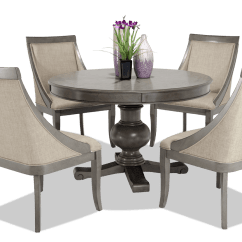 Round Dining Chairs Parker Knoll Second Hand Gatsby 5 Piece Set With Swoop Bobs Com