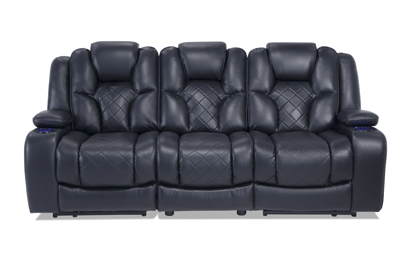 gladiator power dual reclining sofa reviews reupholster cost london console loveseat bobs com