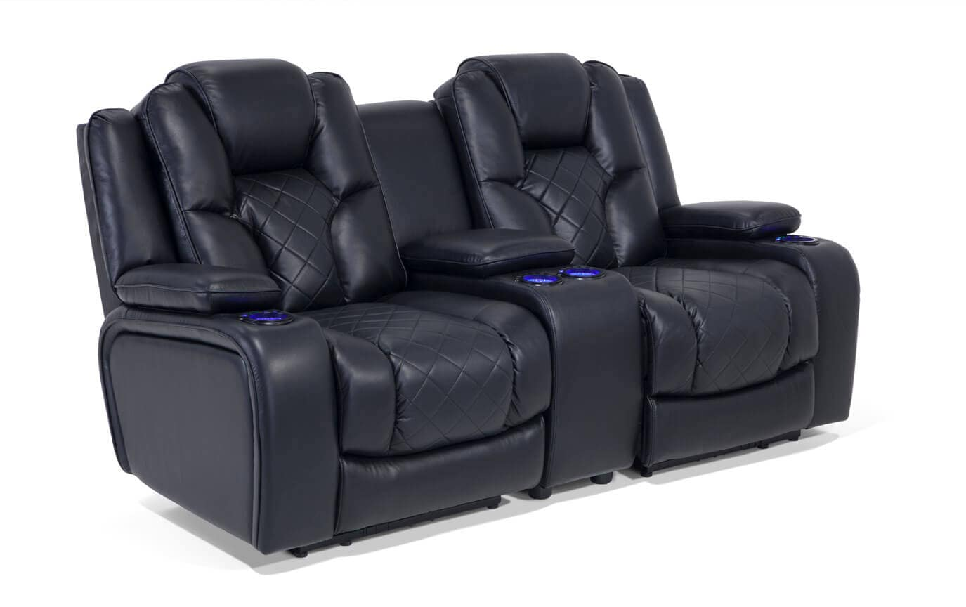 gladiator power dual reclining sofa reviews 3 2 seater sofas console loveseat bobs com gallery slider image 1