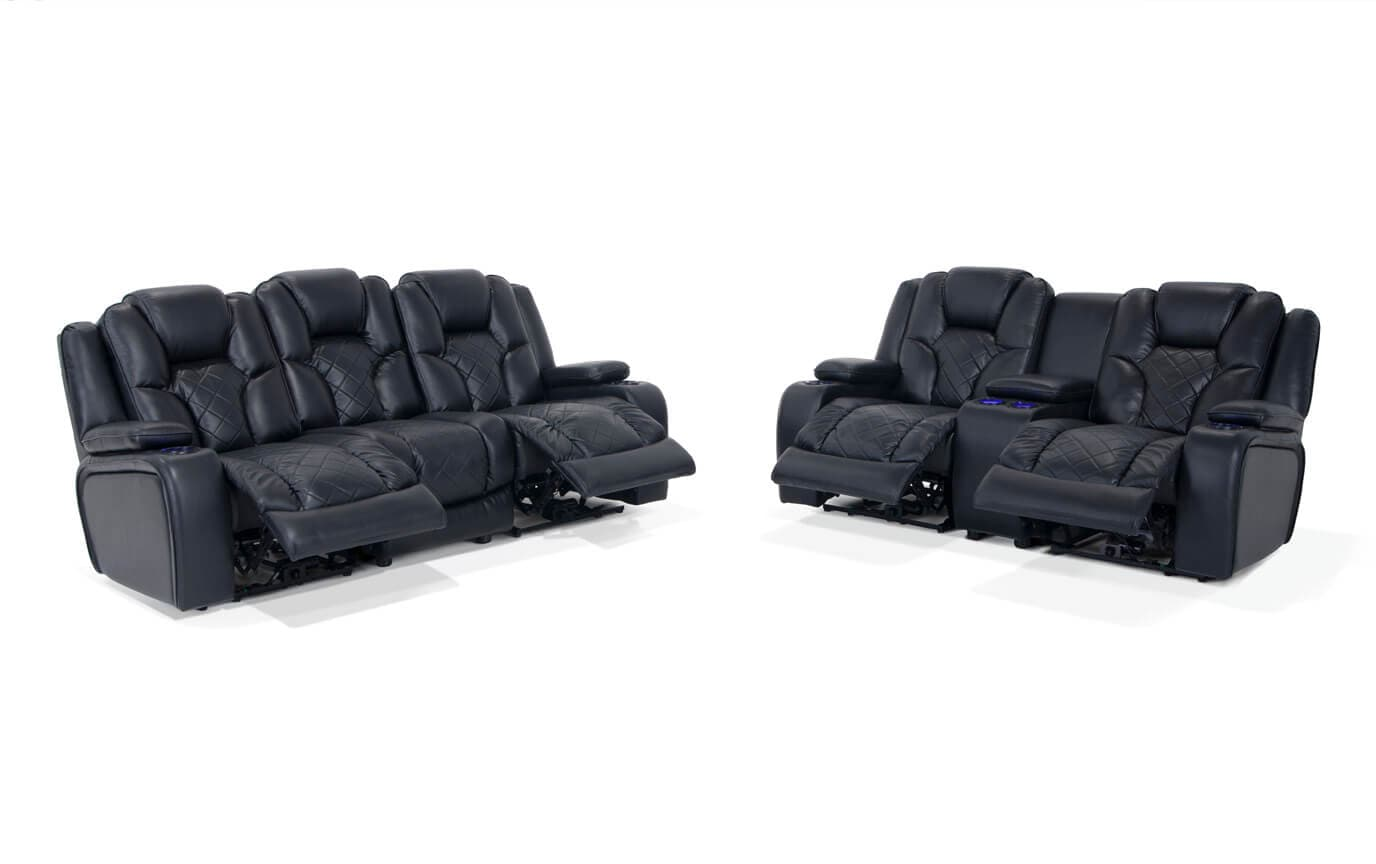 gladiator power dual reclining sofa reviews outdoor puerta 5 piece wicker l shaped sectional set and console loveseat