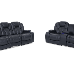 Black Reclining Sofa With Console Cody Fabric 6 Piece Sectional 2 Power Recliners Gladiator Dual Loveseat Bobs Com