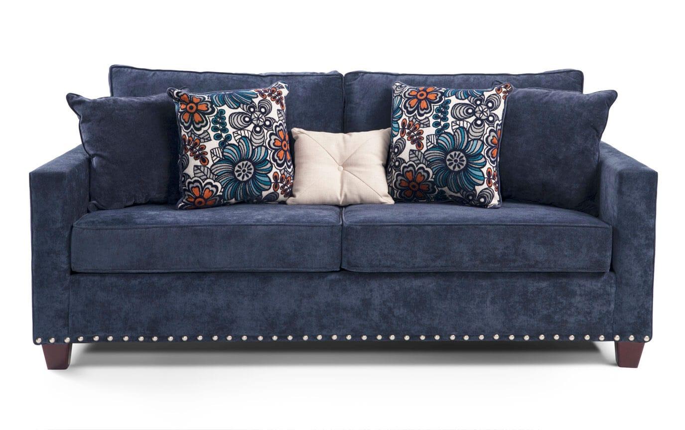 bobs miranda sofa reviews craigg with twin sleeper chocolate furniture sofas and loveseats baci living room