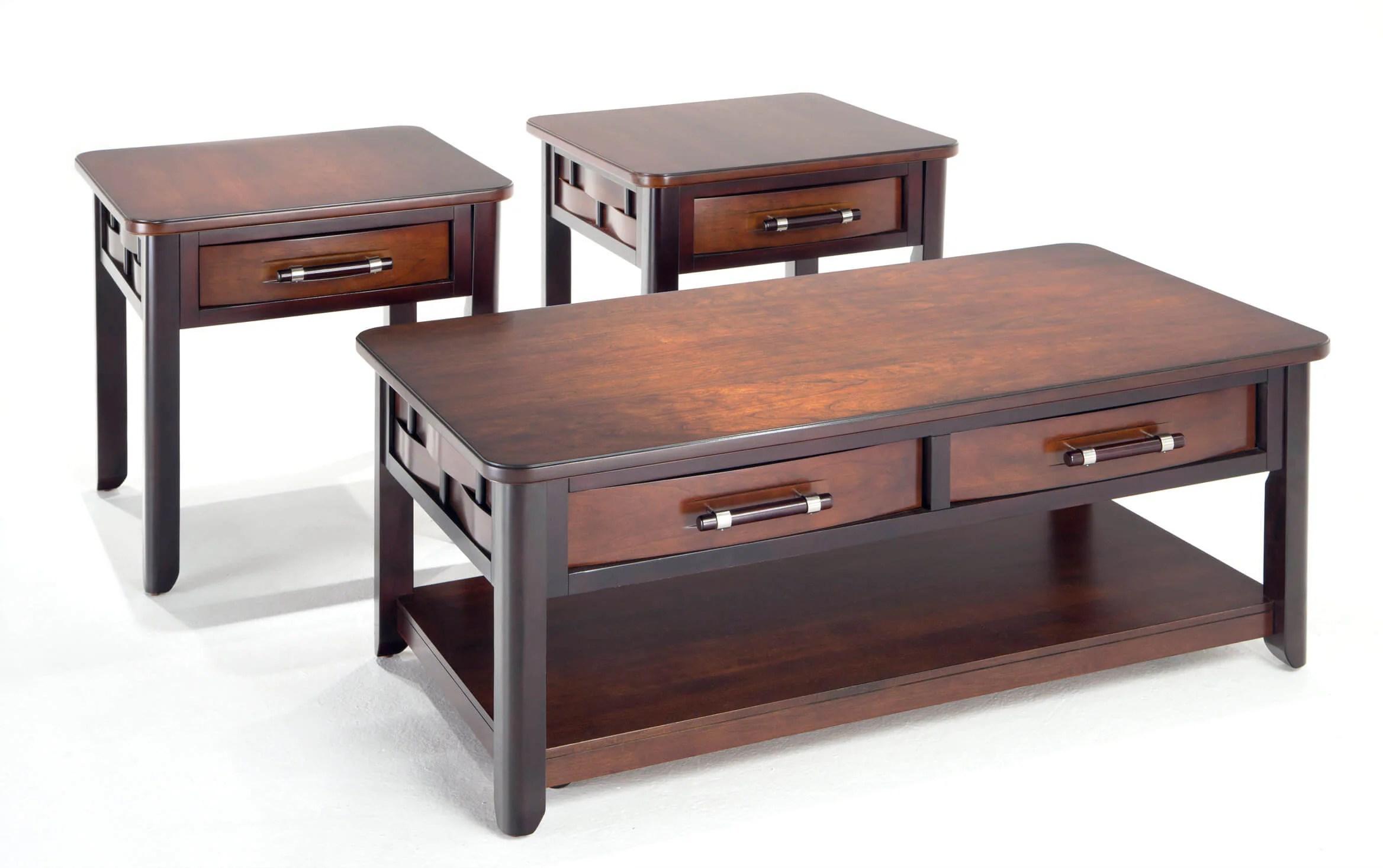 Dream Weaver Cherry Espresso Coffee Table Set Bobs Com