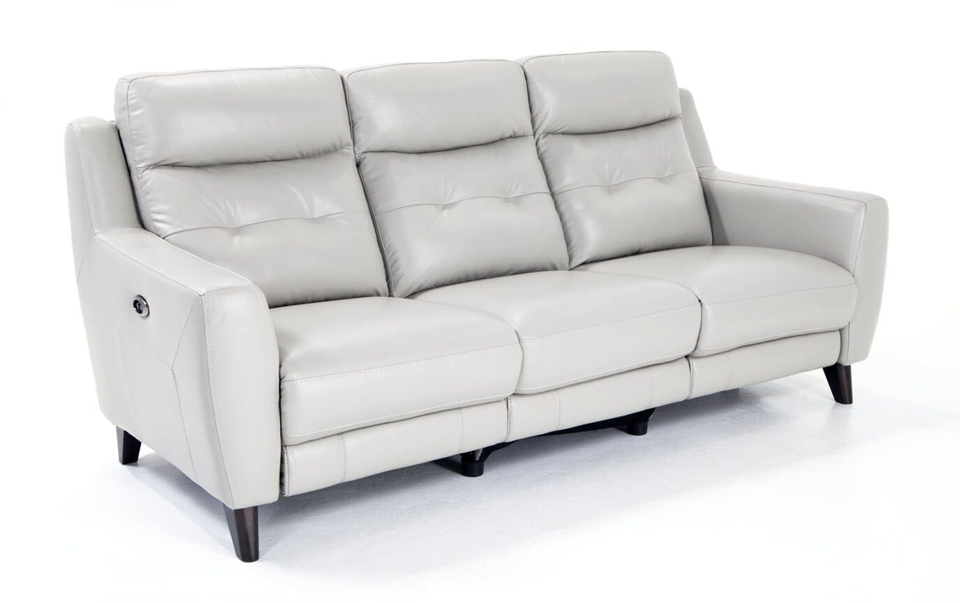 the brick cindy crawford reclining sofa bed replacement parts gray leather power baci living room