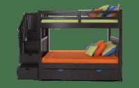 Keystone Stairway Bunk Bed With Storage/Trundle Unit | Bob ...